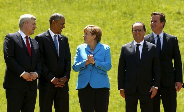 Obama, Merkel, Hollande au G7 en Bavière
