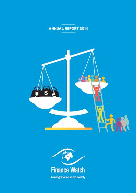 Symbole du dernier rapport annuel de Finance Watch