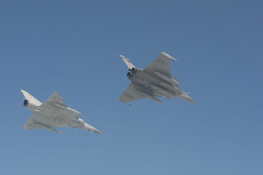 Le Bourget,  Rafale et Mirage III DS
