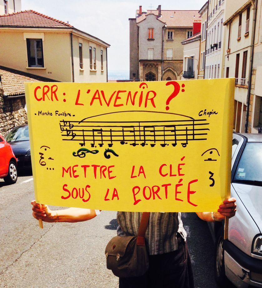 Protestation à Lyon en juin 2015 pour la défense des Conservatoires à rayonnement régional