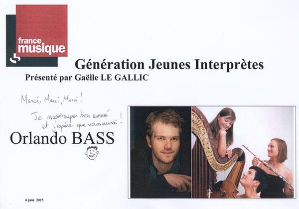 flyer Génération jeunes  interprètes_Orlando Bass