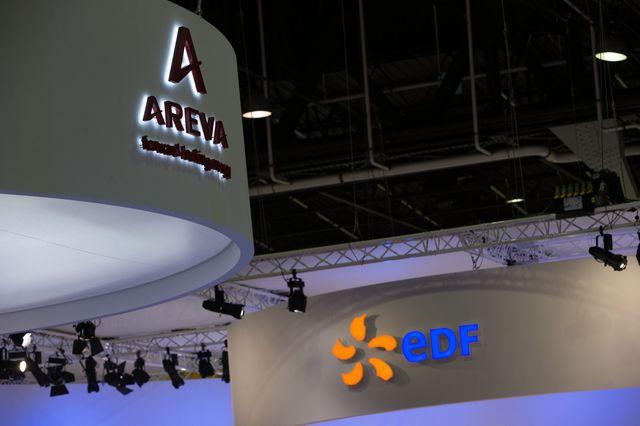 France, Le Bourget 14/10/2014  Salon mondial des industries du secteur nucleaire. Les stands AREVA et EDF.