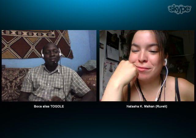Bocary à Bamako et Natasha à Montréal