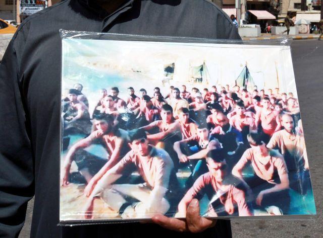 Des victimes du massacre de Tikrit