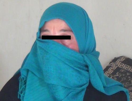 Aicha, habitante de Palmyre, a fui après l'arrivée de Daech