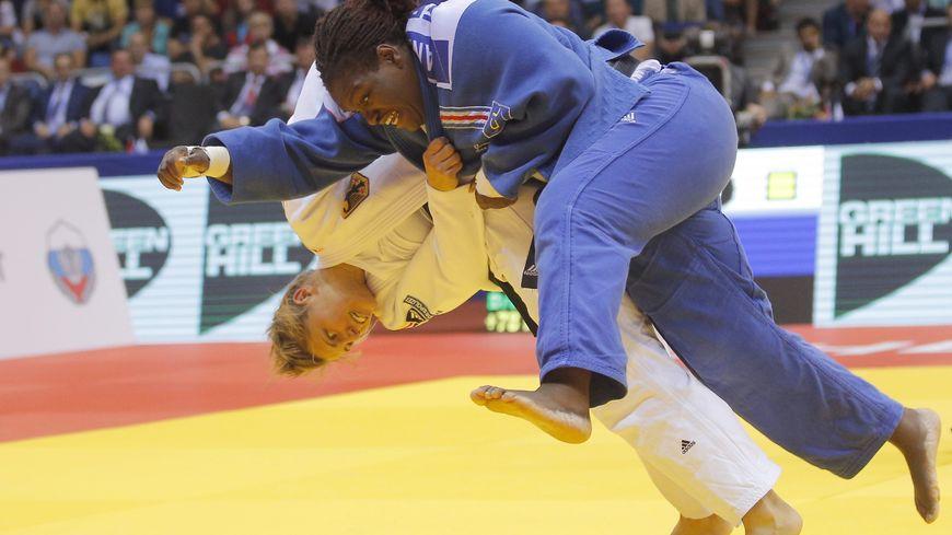 Emilie Andéol lors des championnats du monde de Judo en 2014