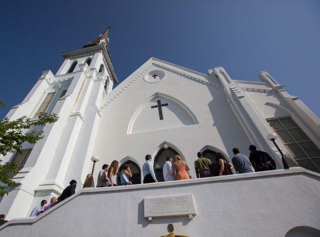Rassemblement dans l'église de Charleston