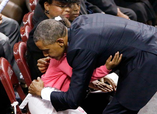 Barack Obama et la fille du révérend Clementa Pinckney