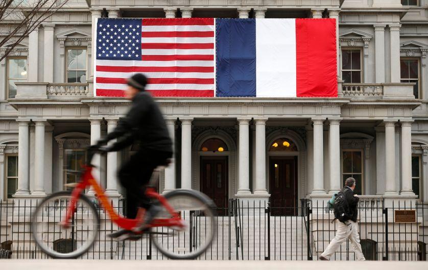 Bâtiment à Washington le 10 février 2014, lors de la visite officielle de François Hollande au Etats-Unis