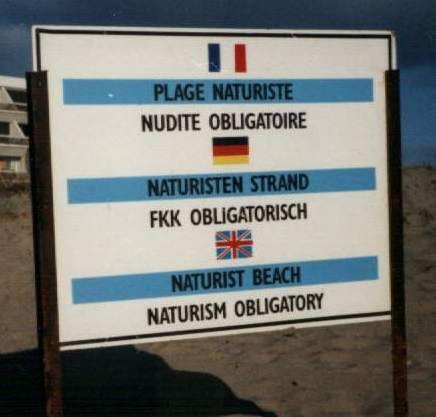 Panneau au Cap d'Agde