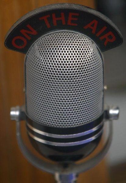 Un micro dans un studio de la BBC à Londres
