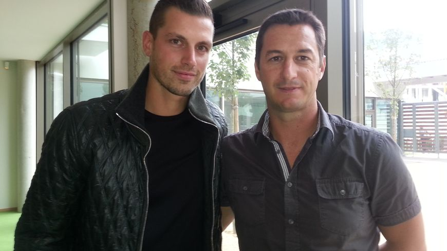Morgan Schneiderlin avec François Keller, son formateur au Racing Club de Strasbourg