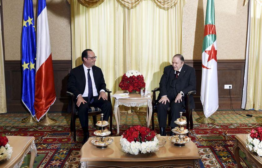 François Hollande et Adbelaziz Bouteflika à Alger lundi 15 juin