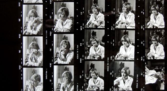 Archives photographiques de France Soir_Sagan, planche contact