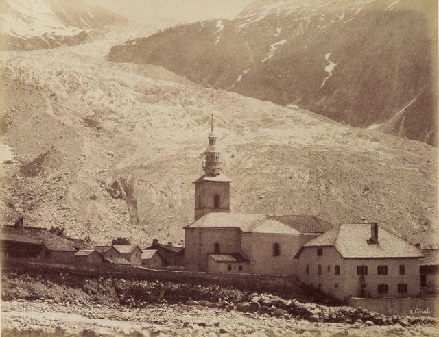 Le glacier d'Argentière en 1863