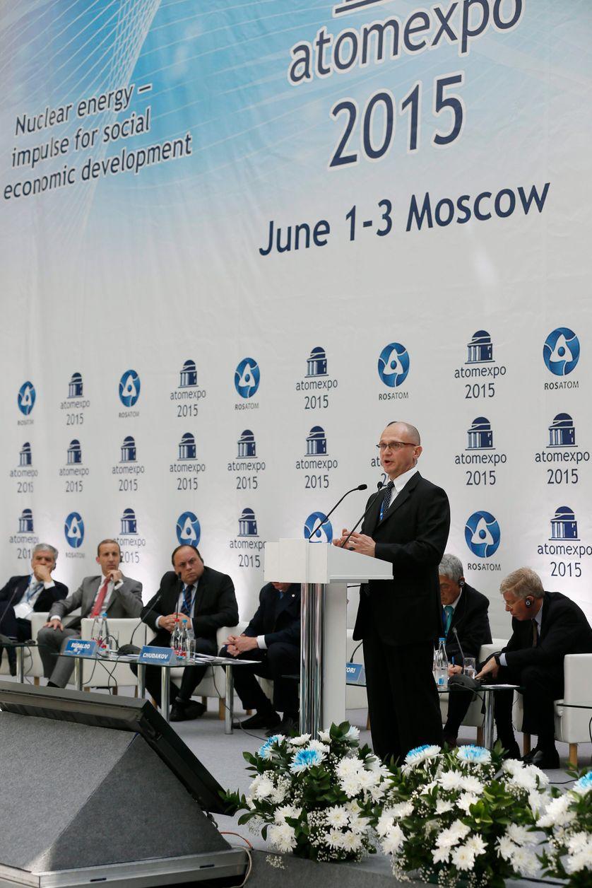 Le chef de l'agence fédérale russe de l'énergie atomique Rosatom Sergueï Kirienko le 1er juin 2015, à Moscou