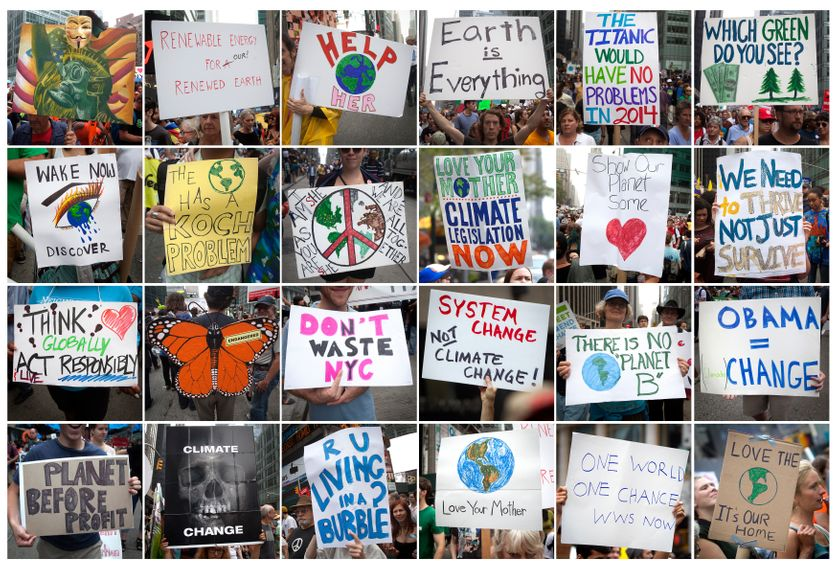 People's Climate March : manifestation à New-York, Manhattan le 21 septembre 2014