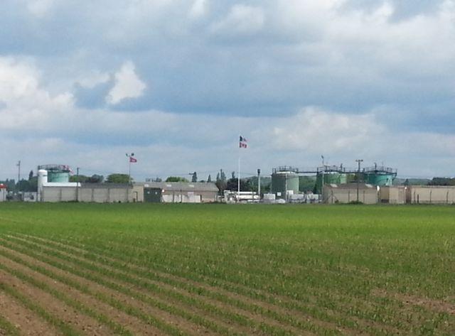 L'installation de stockage de Vermilion à Vert-le-Grand où une fuite a été constatée le dimanche 24 mai.