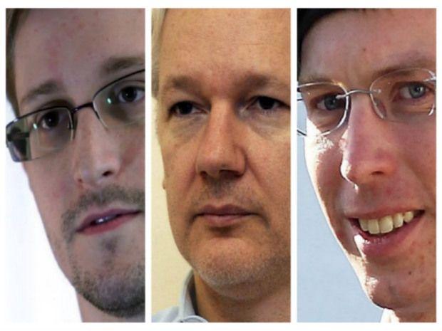 Edward Snowden, Julian Assange, Bradley Manning
