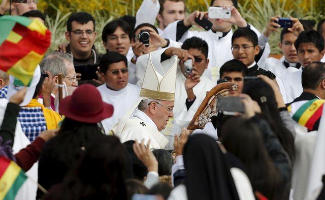 Le pape François à Santa Cruz, Bolivie