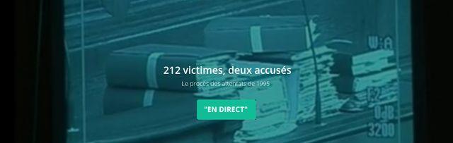 Attentat de 1995 : bannière procès