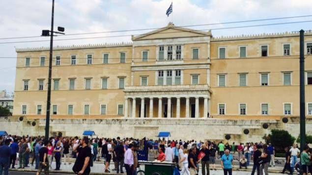 La place de la constitution à Athenes