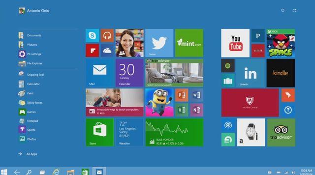 Le nouveau système d'exploitation Windows 10