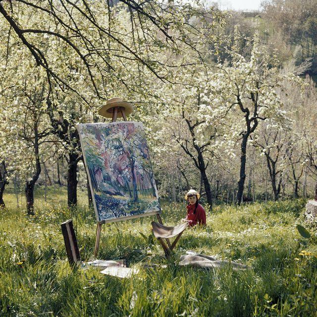 Lartigue- Florette , Opio, avril 1960