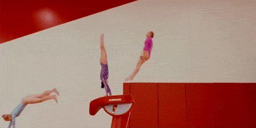 Timelapse de gymnastes