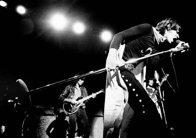 Mick Jagger, des The Rolling Stones, en concert à New York, entre 1960 et 1979.