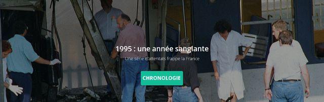 Attentats de 1995 : bannière chronologie
