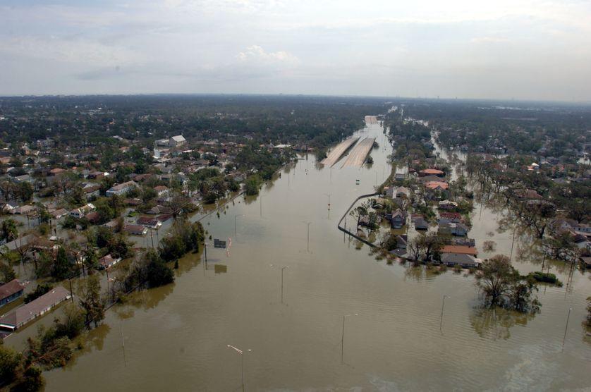 Conséquence de l'ouragan Katerina en Louisiane