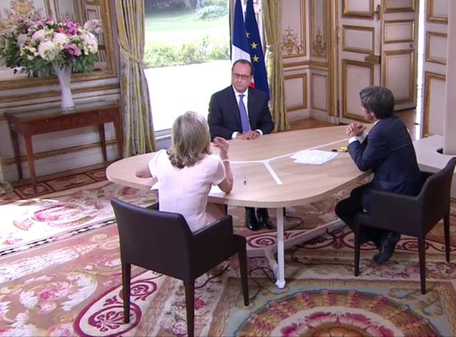 Interview de François Hollande le 14 juillet 2015