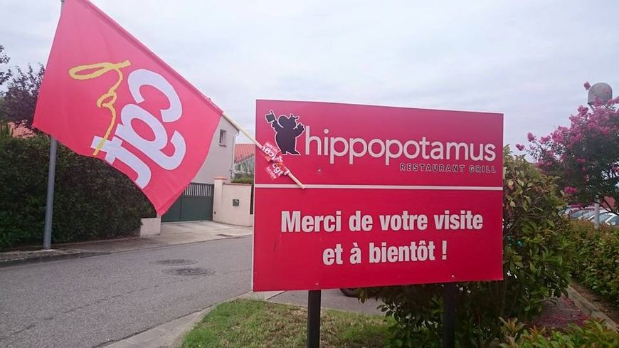 Hippopotamus Blagnac en grève