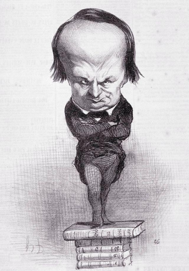 Caricature de Victor Hugo