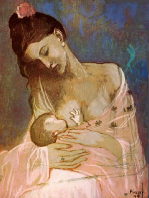 Picasso La maternité