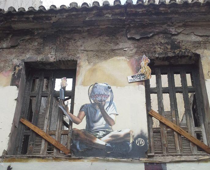 Sur les murs d'Exarchia