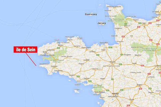 Carte l'île de Sein