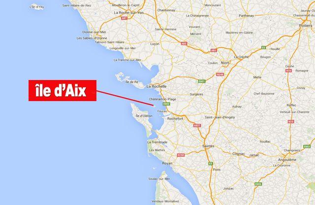 carte l'île d'Aix