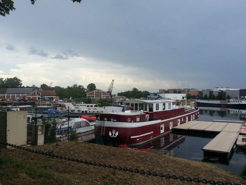 La marina Koejac à Strasbourg accueille les bateaux de plaisance