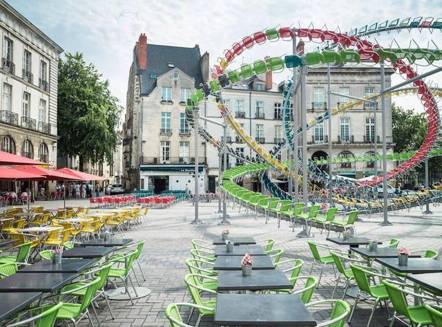 Baptiste Debombourg, Stellar, place du Bouffay, dans le cadre du Voyage à Nantes 2015