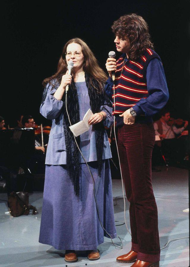 """Fabienne thibault et Daniel Balavoine dans l'opéra-rock """"Starmania"""" en 1978"""