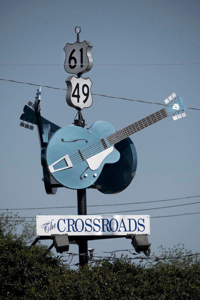 Crossroads Highway 61 et 49, Clarksdale, Mississippi, USA