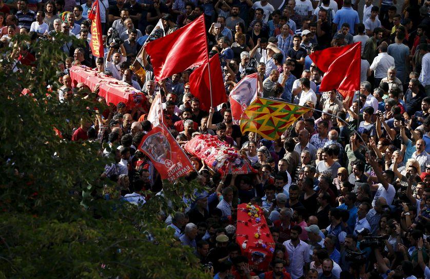 Funérailles des victimes de l'attentat de Suruc le 22 juillet