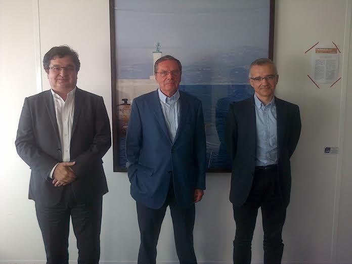 Olivier Landel, Daniel Lebègue et Patrice Geoffron