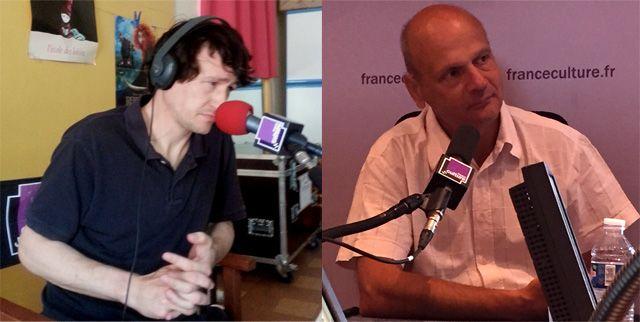 Nicolas Cavaillès et François Garde dans la Grande Table d'été