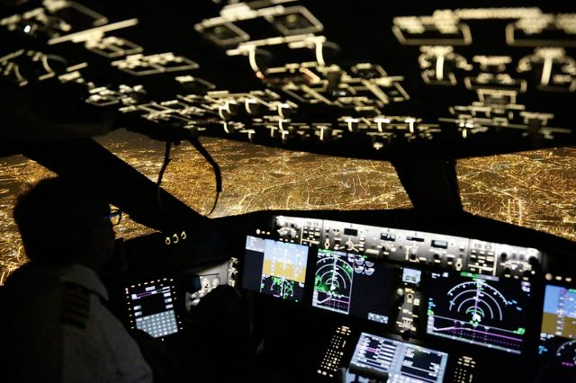 Cockpit d'un avion