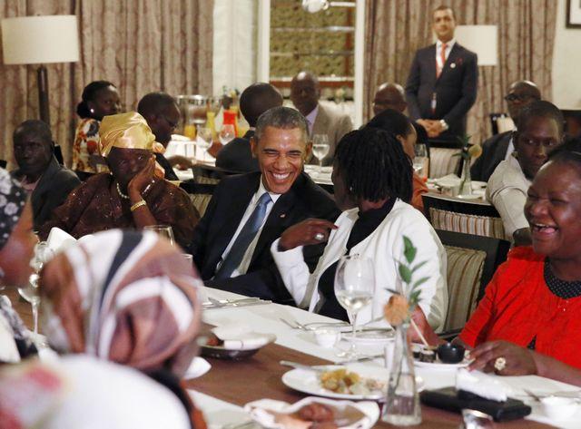 Barack Obama au Kenya dîner de famille