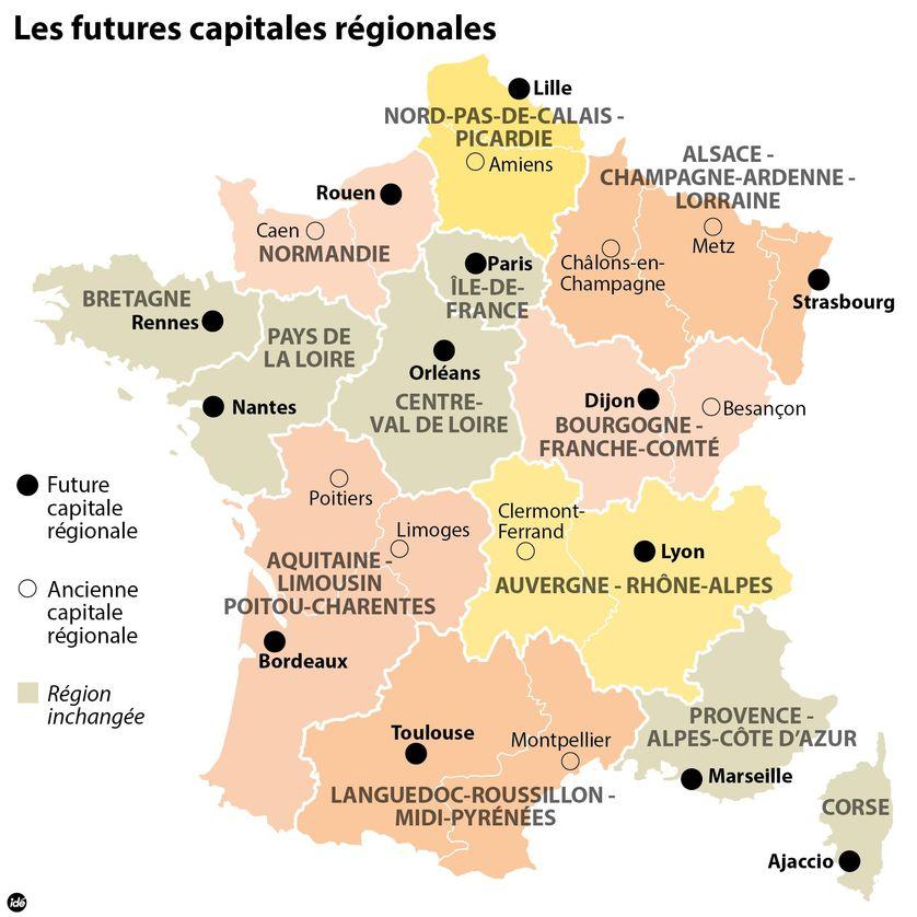 Les futures capitales régionales françaises
