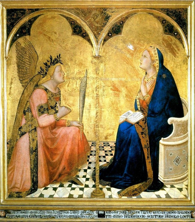 Ambrogio Lorenzetti, l'Annonciation (1344, Sienne)